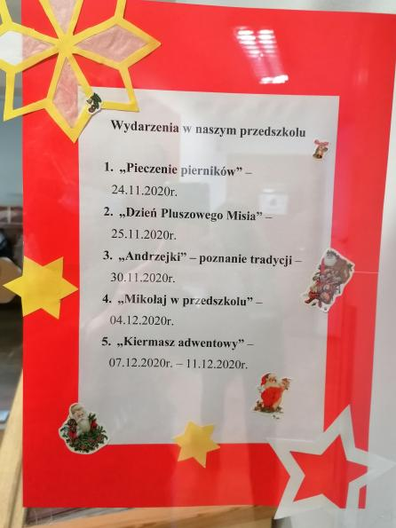 Ważniejsze wydarzenia w naszym przedszkolu