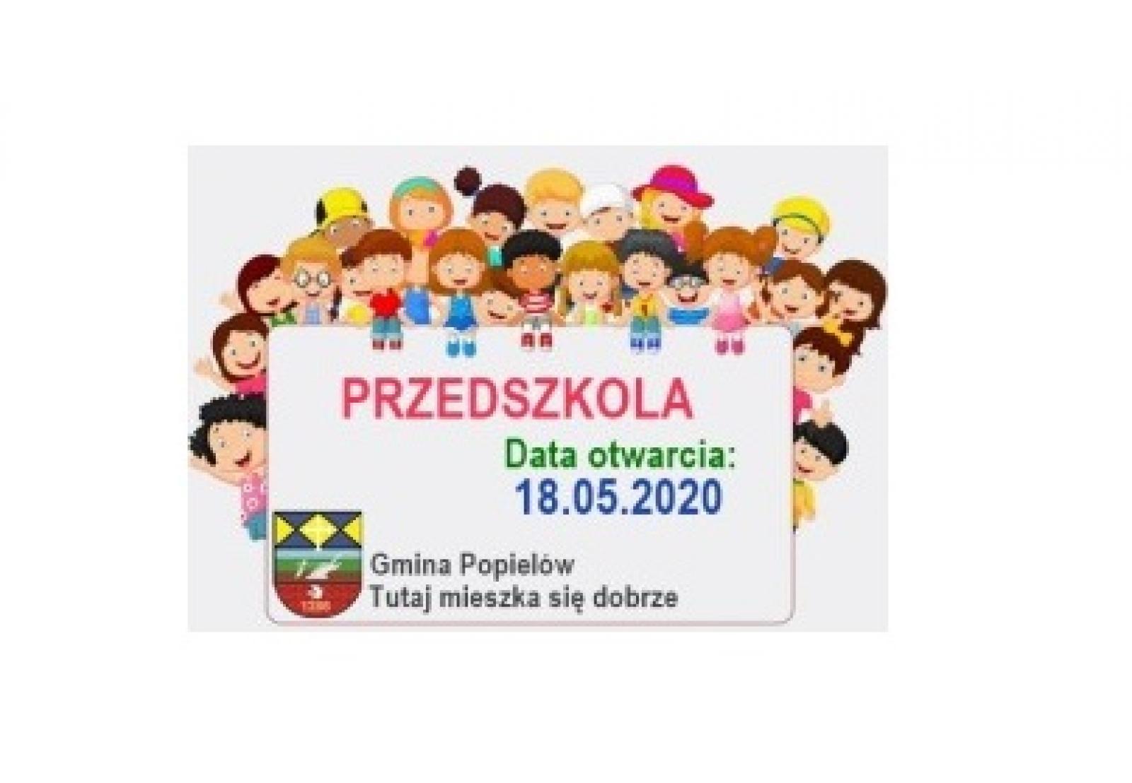 Informacja nt. znoszenia w gminie Popielów ograniczeń nałożonych w związku z epidemią koronawirusa - otwarcie przedszkoli na terenie gminy Popielów