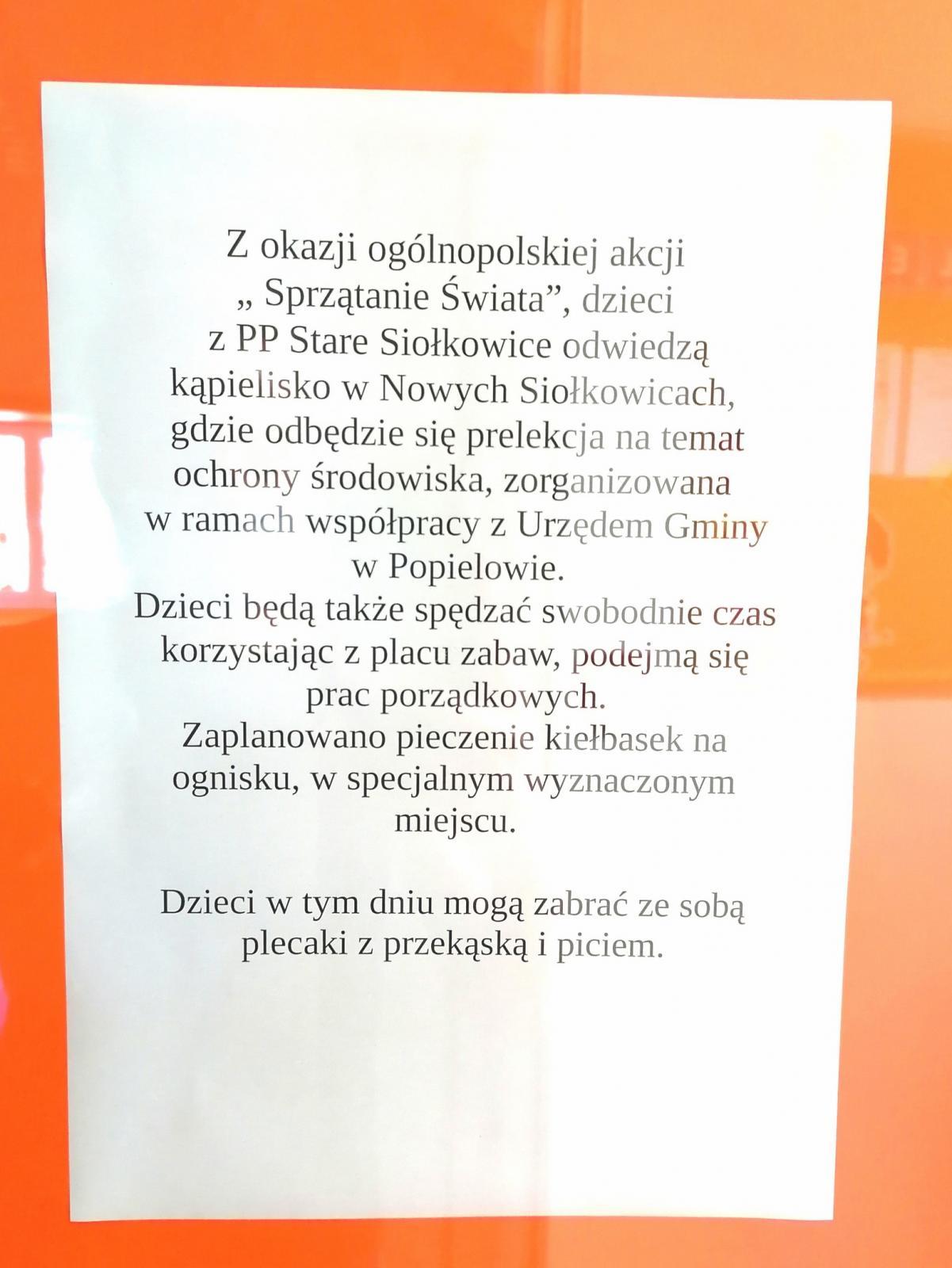 Wycieczka na kąpielisko w Nowych Siołkowicach